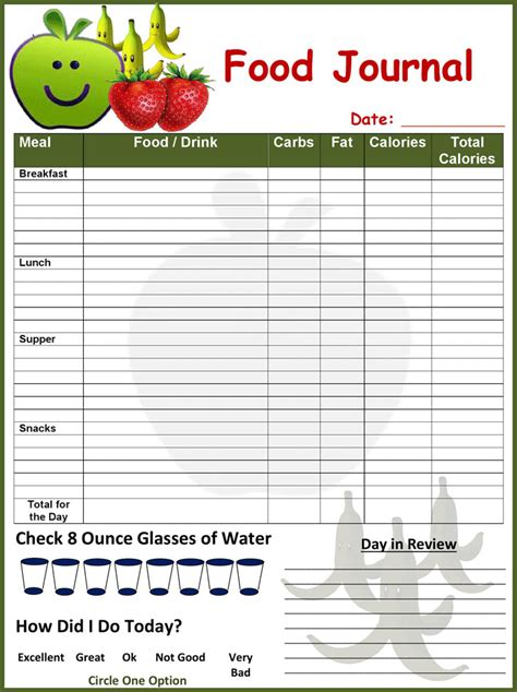 journal cuisine food log template free premium templates