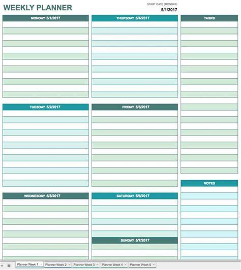 printable daily calendar templates smartsheet