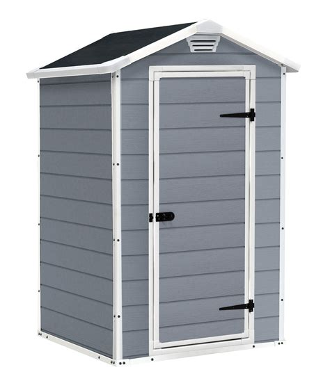 keter manor shed grey keter manor outdoor plastic garden storage shed 4 x 3