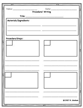 procedural writing template procedural writing template with editing checklist by graham
