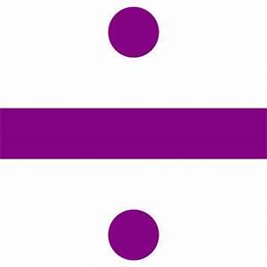 Purple divide sign icon - Free purple math icons