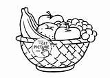 Coloring Fruit Basket Printable Popular sketch template
