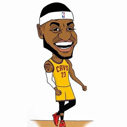 Lebron James Cartoon Drawing Clip Clipart Simpson