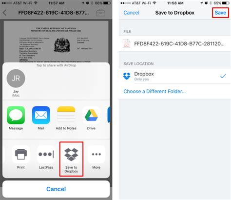 to upload photos from iphone to dropbox how do i transfer a file from icloud drive directly to