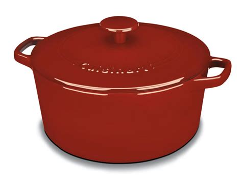 cuisinart enameled cast iron  dutch oven  quart red cutlery