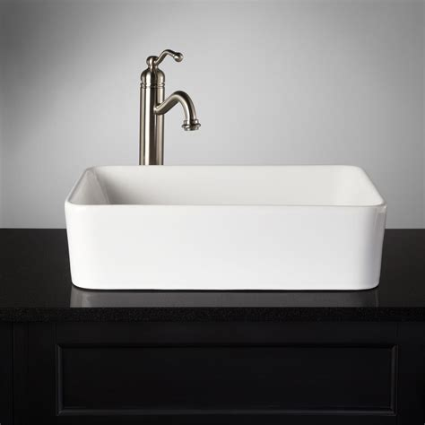 Rectangular Sinks Bathroom by Blanton Rectangular Porcelain Vessel Sink Bathroom