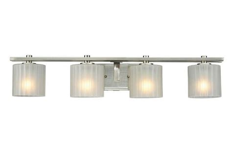 hampton bay sheldon  light brushed nickel bath bar light