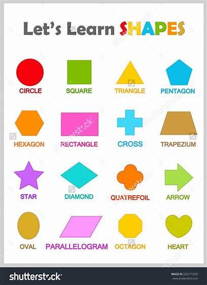 4d Clipart Shapes Geometric Clip Preschool Names