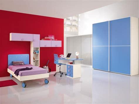 lit mezzanine avec bureau et armoire mobilier chambre enfant 100 idées cool pour vous inspirer