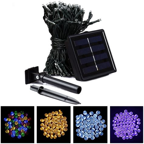 22m 200 led solar light outdoor lighting solar led