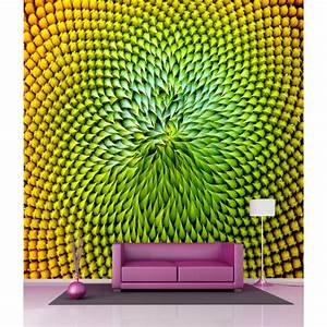 Papier Peint Geant : papier peint g ant deco feuilles 250x250cm art d co stickers ~ Premium-room.com Idées de Décoration