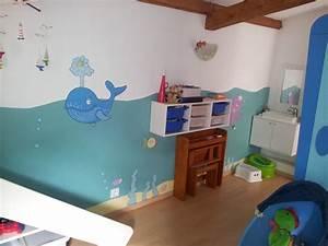 attrayant deco peinture chambre bebe garcon 4 With peinture pour chambre garcon