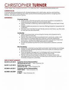 Simple customer service representative resume example for Customer service resume sample