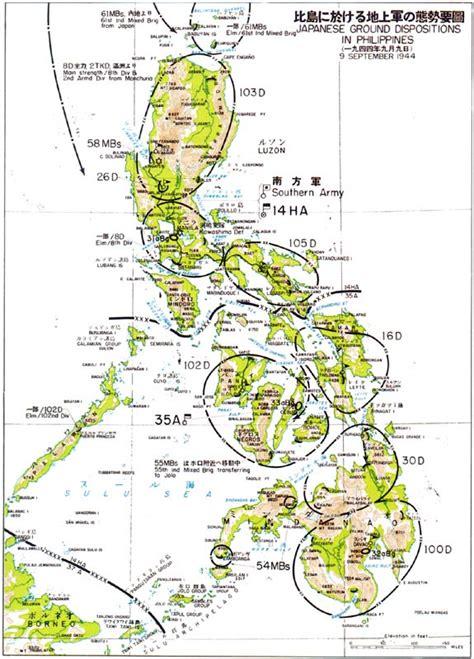 Leyte Map Samar Philippines Wwii