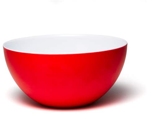 madison bloom 10 inch round bowl red white contemporary dining bowls by q squared
