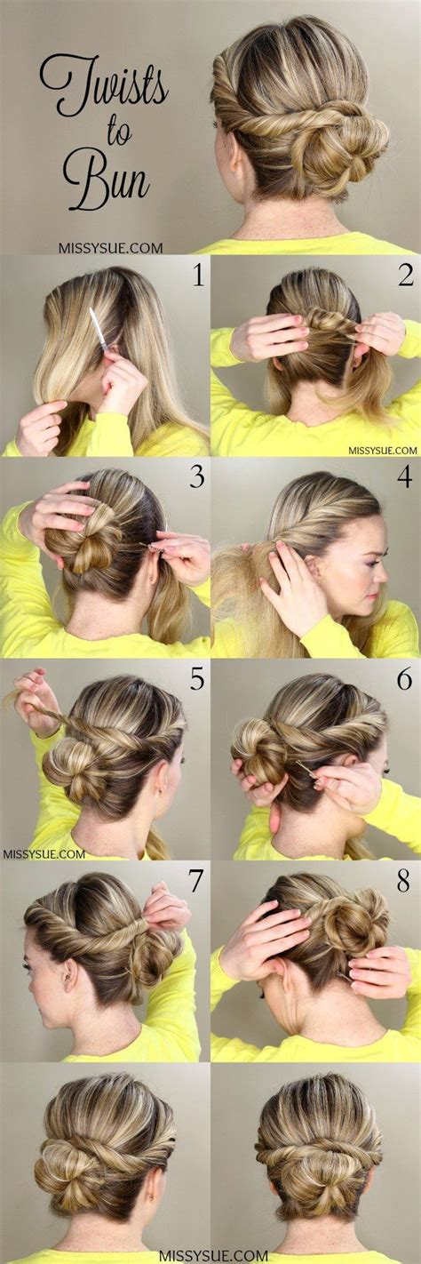 look hair styles twists to bun hair style easy hairstyles and up dos 6293