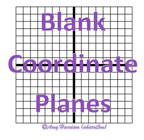 Blank Coordinate Planes  Reproducible  Teaching Math In A Virtual Reality