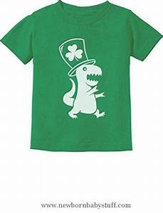 Baby Boy Clothes Tstars Irish T-Rex Dinosaur Clover Hat ST ...