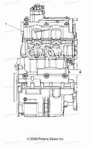 Polaris Atv 2009 Oem Parts Diagram For Engine  Short Block