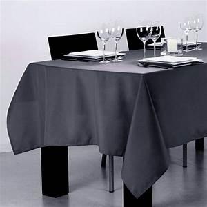 Nappe De Table Rectangulaire : nappe rectangulaire l240 cm lina gris fonc nappe de table eminza ~ Teatrodelosmanantiales.com Idées de Décoration