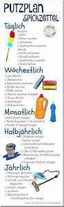 Motivation Zum Putzen : praktischer printout spickzettel zum putzen mit allen ~ A.2002-acura-tl-radio.info Haus und Dekorationen