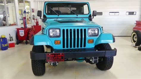 jeep wrangler turquoise 1993 jeep wrangler s 197267 miles turquoise suv i4 2 5l
