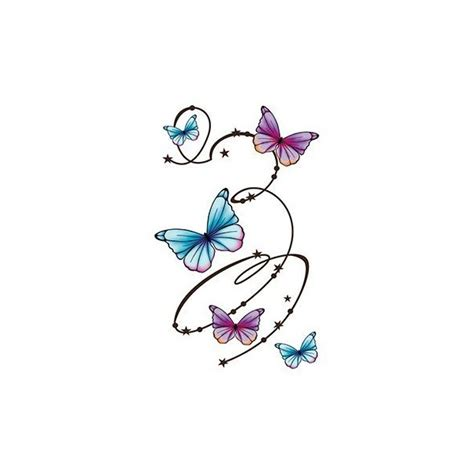 Grand Tatouage Décalcomanie Motif Arabesques De Papillons