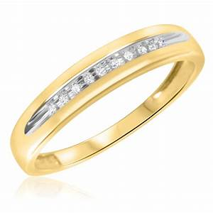 1 15 ct tw diamond men39s wedding band 10k yellow gold With yellow gold wedding rings with diamonds