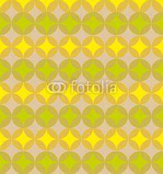 dezent gemusterte retro tapete mit gelben akzenten With markise balkon mit tapete retro