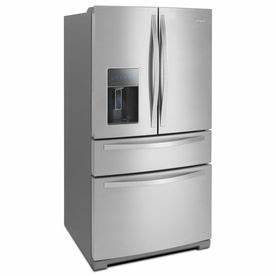 whirlpool 2808 cu ft 4 door french door refrigerator with With best brand of paint for kitchen cabinets with gold star stickers