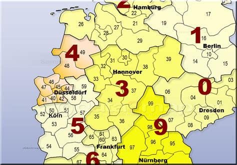 Deutschlandkarte Mit Postleitzahlen