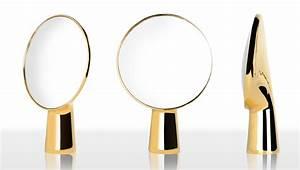 Spiegel Zum Aufstellen : cyclope stellspiegel zum aufstellen h 46 5 cm goldfarben by moustache made in design ~ Whattoseeinmadrid.com Haus und Dekorationen