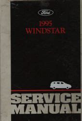 auto repair manual online 1995 ford windstar spare parts catalogs 1995 ford windstar service manual