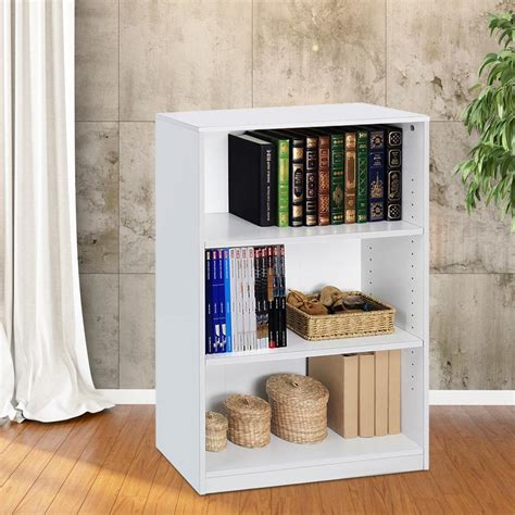 Closed Bookcases by 3 Shelf Bookcase Office Home Closed Back Bookshelves