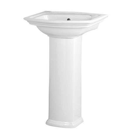 home depot bathroom sink installation washington 460 vitreous china pedestal combo bathroom sink