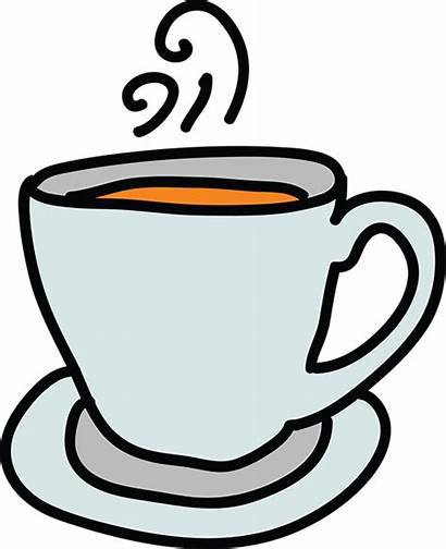 Cup Coffee Clipart Drawing Teacup Animated Tea