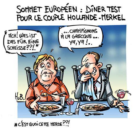 Le Couple Hollandemerkel à Bruxelles  Mes Dessins D'actu