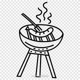Sausage Clipart Barbecue Coloring Printable Sizzle Transparent Clip sketch template