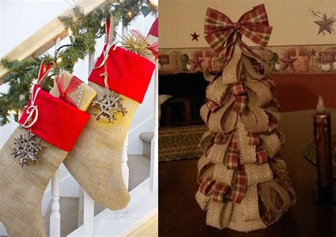 burlap christmas decorations ideas