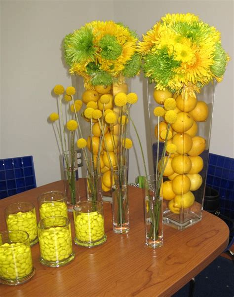 blue  yellow table decorations lets paaaartay party