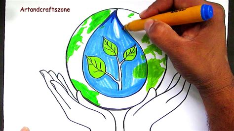 How To Draw Save Water / Save Earth / Save Nature Poster