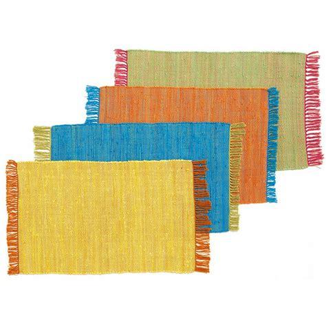 tapis de cuisine orange tapis tressé plat en coton bi couleur jaune 60x90cm color tapis petit tapis pas cher