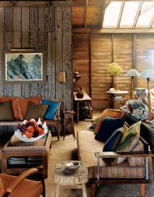 woods vintage home interiors small spaces rustic living room design with wood wall and vintage furniture table with