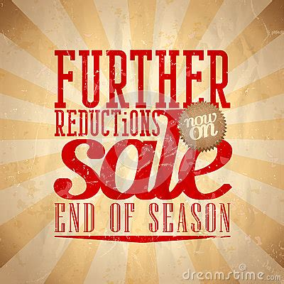 Further Reductions Sale Design Retro Style. Stock Photos ...