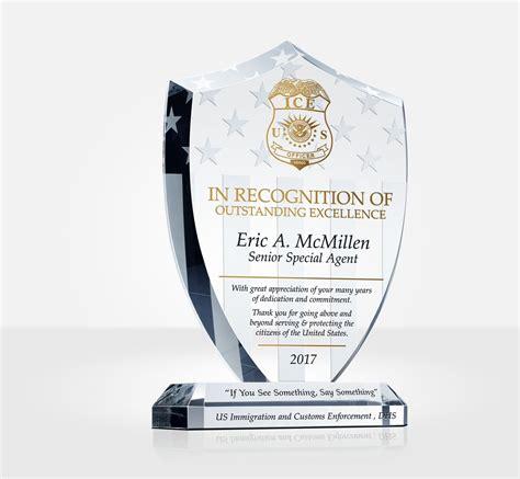 law enforcement shield plaque diy awards