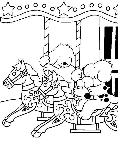 Kermis Kleurplaat by Dribbel Kinder Kleurplaten Kermis