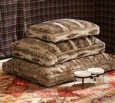 luxe faux fur pet bed from restoration hardware our dog