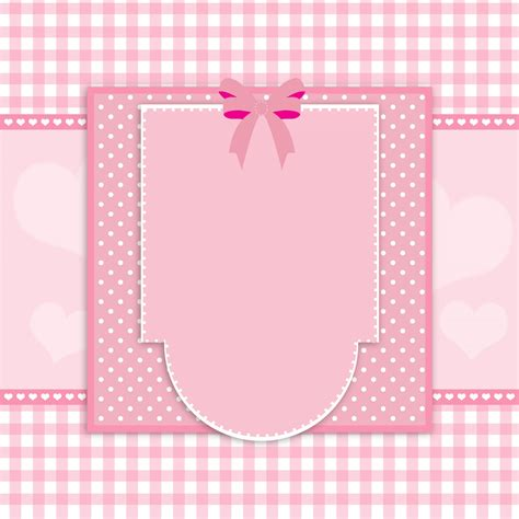 fancy pink card frame  stock photo public domain