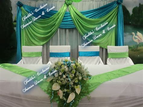 royal blue lime green silver wedding hall google search