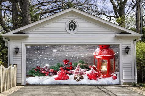 christmas garage door covers banners  house